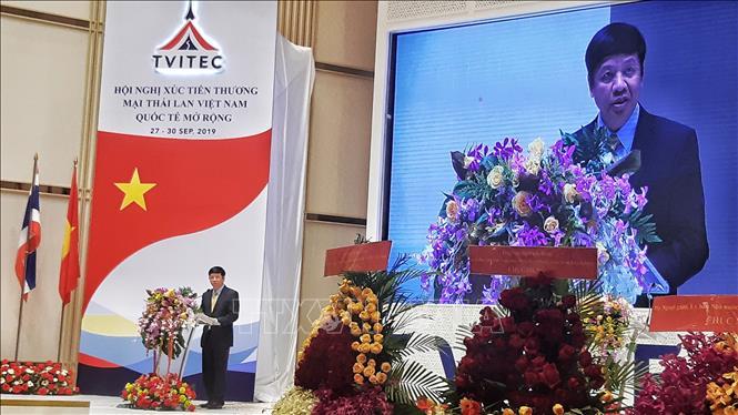 Thứ trưởng Bộ Ngoại giao, Chủ nhiệm Ủy ban Nhà nước về người Việt Nam ở nước ngoài Nguyễn Quốc Cường phát biểu tại hội nghị. Ảnh: Ngọc Quang /TTXVN