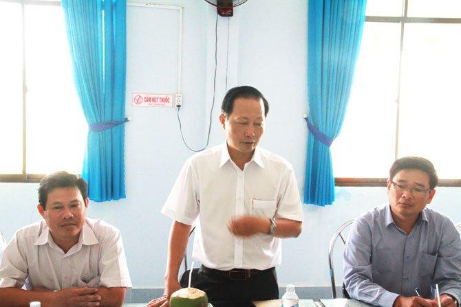 Ông Nguyễn Trúc Sơn – Phó Chủ tịch UBND tỉnh Bến Tre phát biểu tại buổi làm việc.