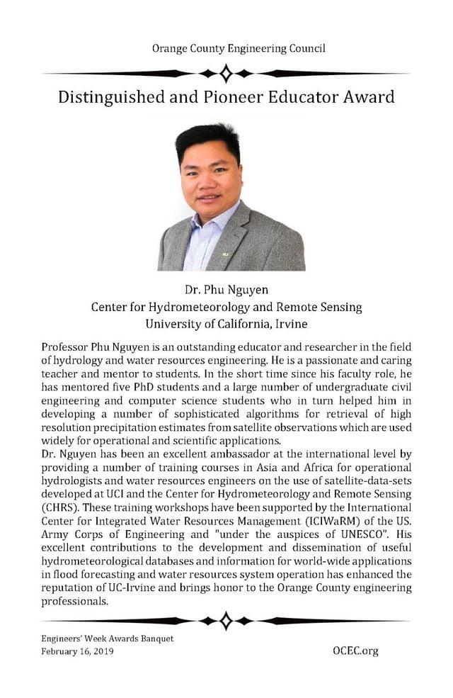 Bài giới thiệu của Hội đồng xét duyệt giải thưởng về TS. Nguyễn Đình Phú.
